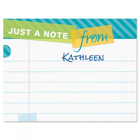 Tape a Note Correspondence Cards
