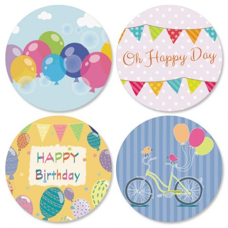 Balloons and Banners Seals (4 Designs)