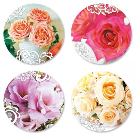 Roses and Lace Seals (4 Designs)