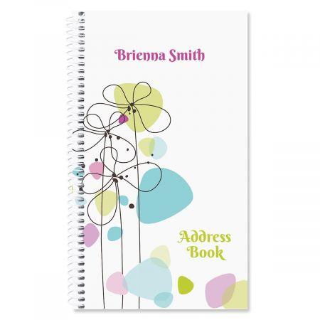 Sketched Flowers Lifetime Address Book