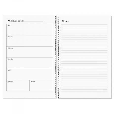 Sketched Flowers Personalized Weekly Planner