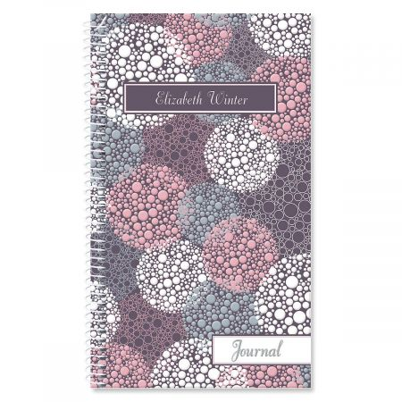Gray Burst Personalized Journal