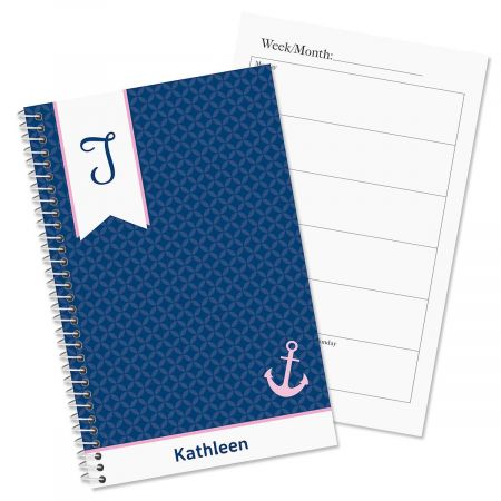 Ribbon Initial Personalized Weekly Planner