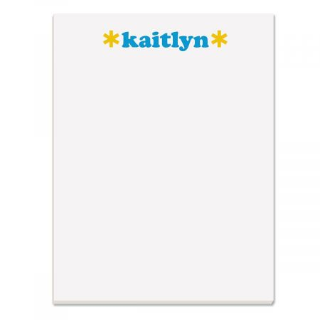 Playful Name Personalized Notepads