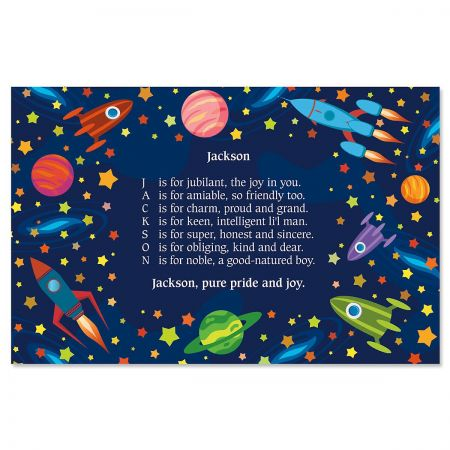 Space Name Poem Kids' Placemats