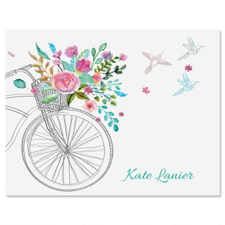 Summer Cycle Personalized Note Cards