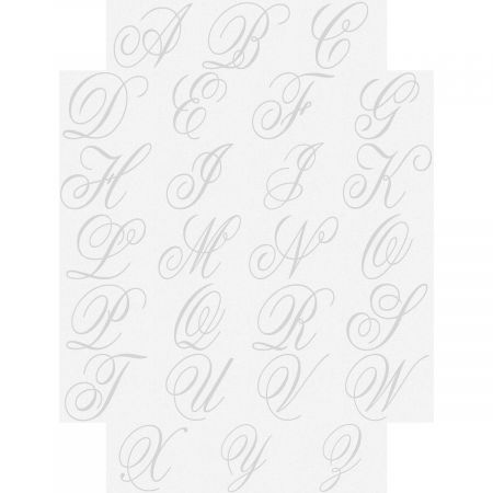 Brushed Initial Personalized Note Cards