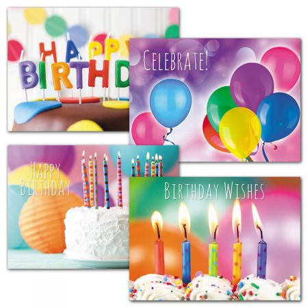 Rainbow Colors Birthday Cards and Seals