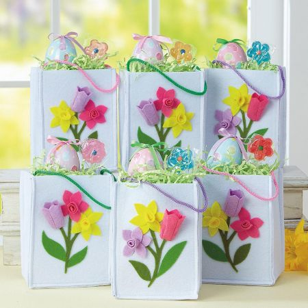 Easter Floral Icon Felt Bags