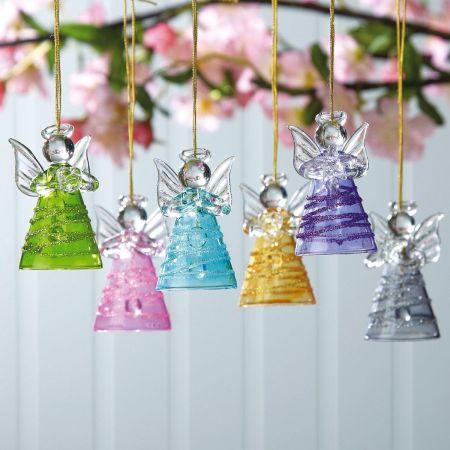 Glass Angels Ornaments