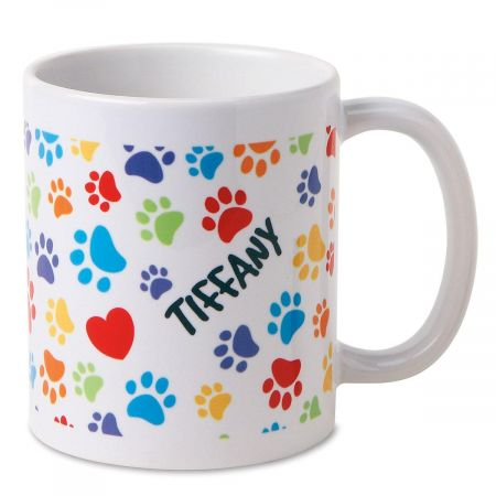 Paw Prints Pet Personalized Mug