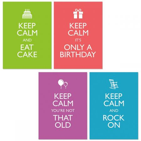 Keep Calm Birthday Cards