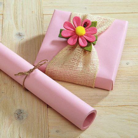 Pastel Pink Kraft Gift Wrap
