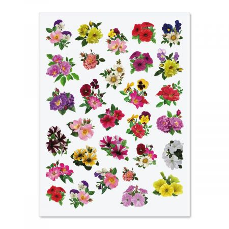 Colorful Flowers Stickers - BOGO