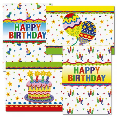 Colorful Celebration Birthday Cards