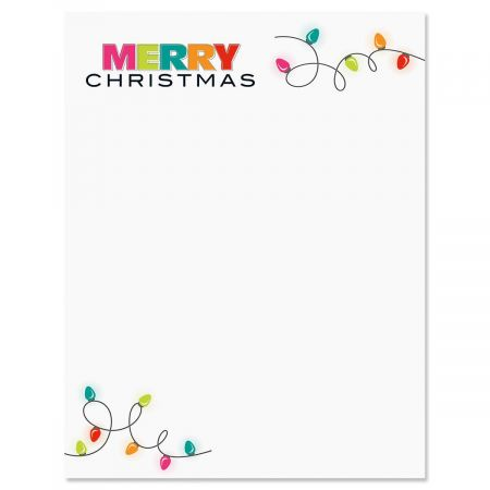 Christmas Lights Christmas Letter Papers