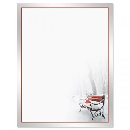 Red Bench Christmas Letter Papers