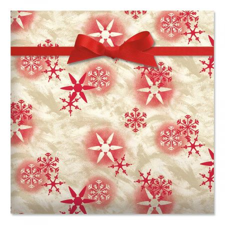 Snowflake Blast Foil Rolled Gift Wrap