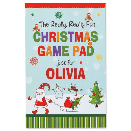 Child's Personalized Christmas Activity Pad
