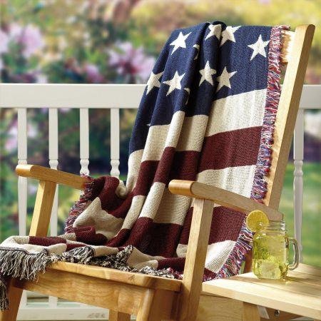 American Flag Decorative Throw
