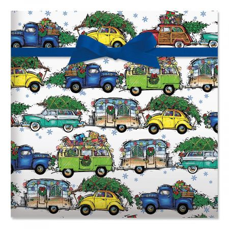 Christmas Vacation Jumbo Rolled Gift Wrap
