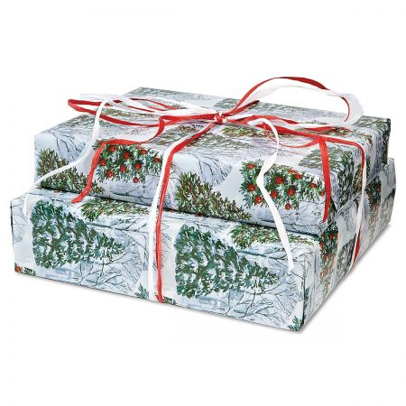 Fantasy Forest Jumbo Rolled Gift Wrap and Labels