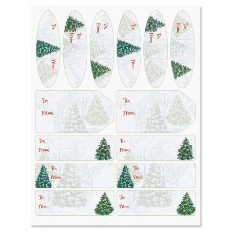 Fantasy Forest Christmas Gift Labels