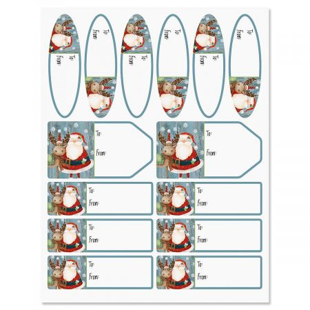 Christmas Chums Gift Labels