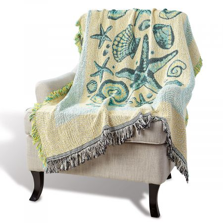Coastal Life Woven Decorative Throw