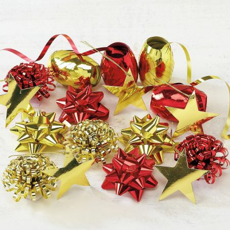 Red and Gold Ribbon and Tags