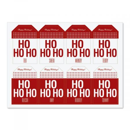 Personalized Ho Ho Gift Stickers