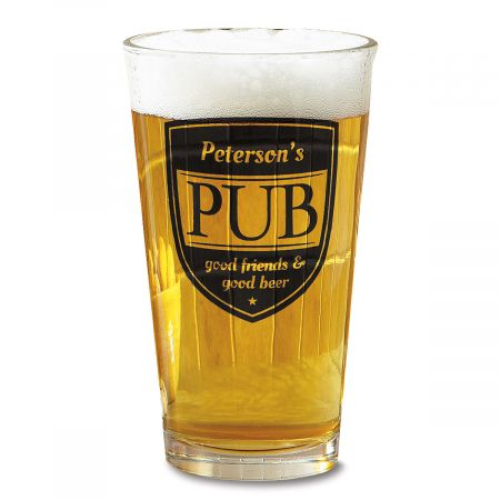 Pub Pint Personalized Beer Glass