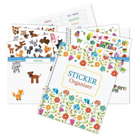 Colorful Flowers Sticker Organizer Book