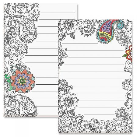 Doodle Art Lined Notepads