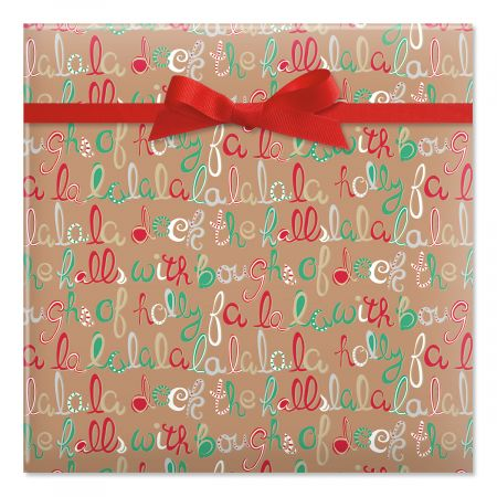 Deck the Halls Jumbo Rolled Gift Wrap