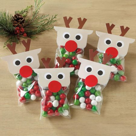 Treat Bags with Reindeer Toppers