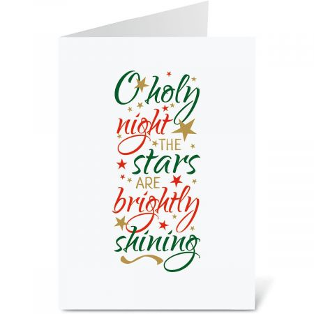 O Holy Night Personalized Christmas Cards - Set of 18