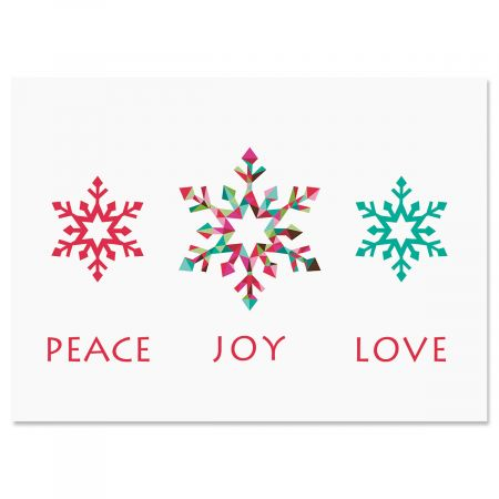 Snowflake Season Christmas Cards - Nonpersonalized