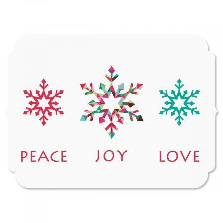 Snowflake Season Nonpersonalized Christmas Cards - Set of 72