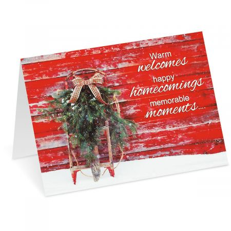 Vintage Holiday Personalized Christmas Cards - Set of 72