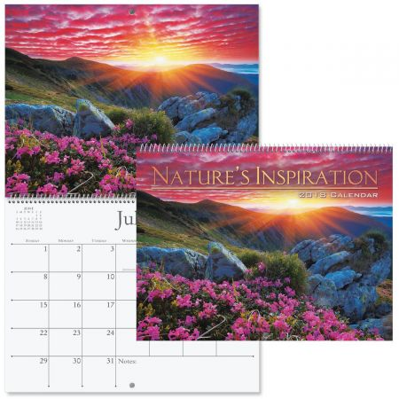 2018 Nature's Inspiration Wall Calendar