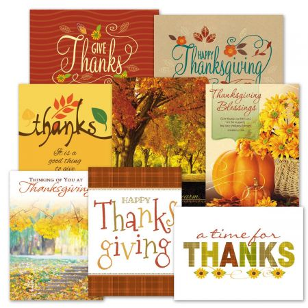 Deluxe Thanksgiving Card Value Pack