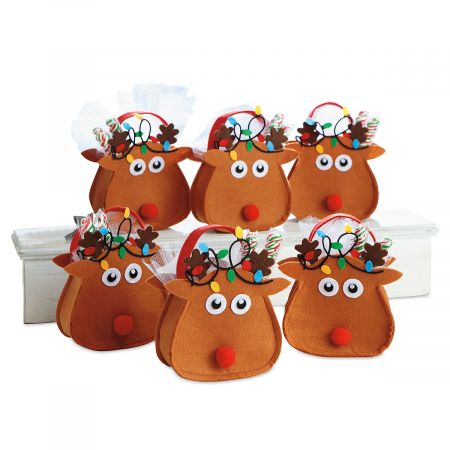 Reindeer Felt Treat Bags