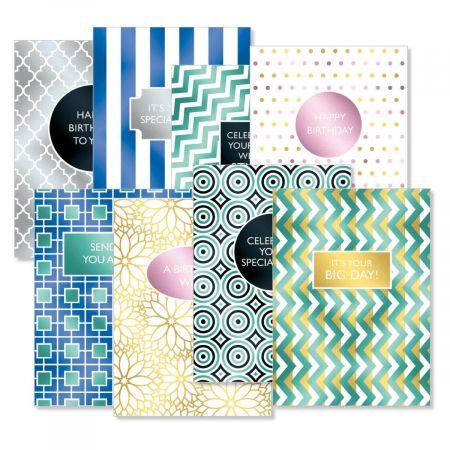 Geometric Graphic Deluxe Birthday Cards