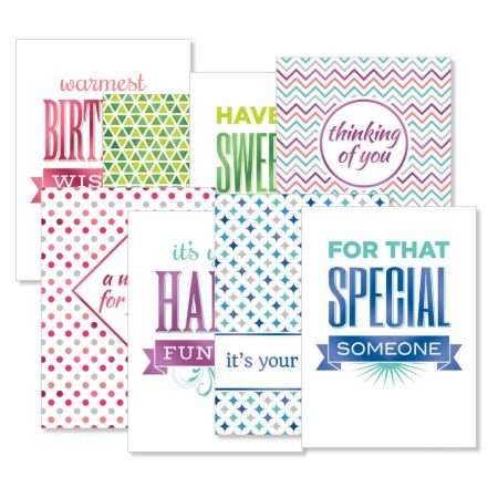 Mixed Copy Foil Deluxe Birthday Cards Value Pack