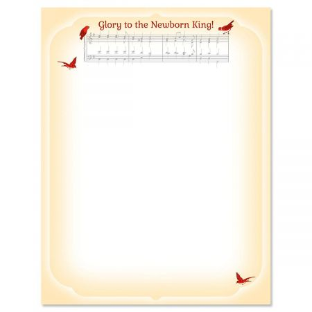 Musical Carol Christmas Letter Papers