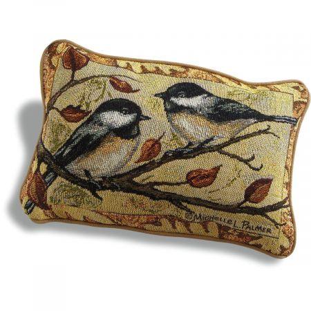 Autumn Chickadee Pillow
