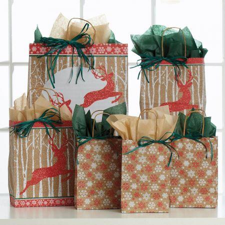 Christmas Woodland Gift Bag Set
