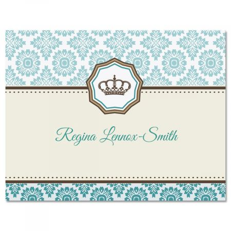Crown Personalized Note Cards