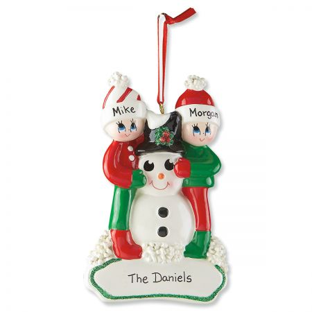 Snowman Gang Personalized Christmas Ornaments
